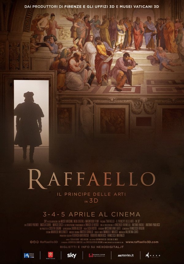 Cartaz do filme-documentário sobre Rafael Sanzio.